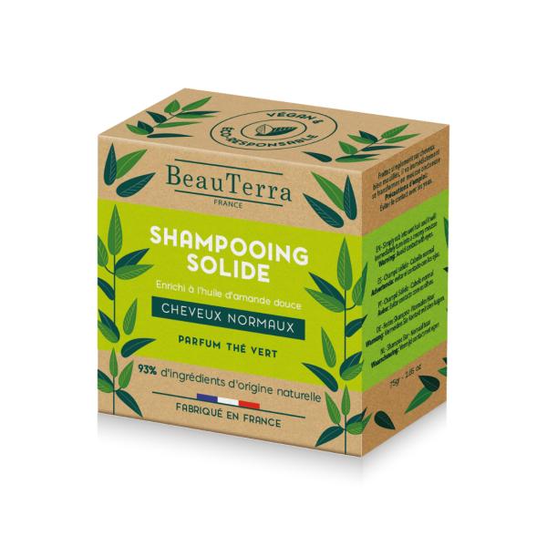 Beauterra ŠAMPŪNZIEPES NORMĀLIEM MATIEM ar zaļās tējas aromātu 75g