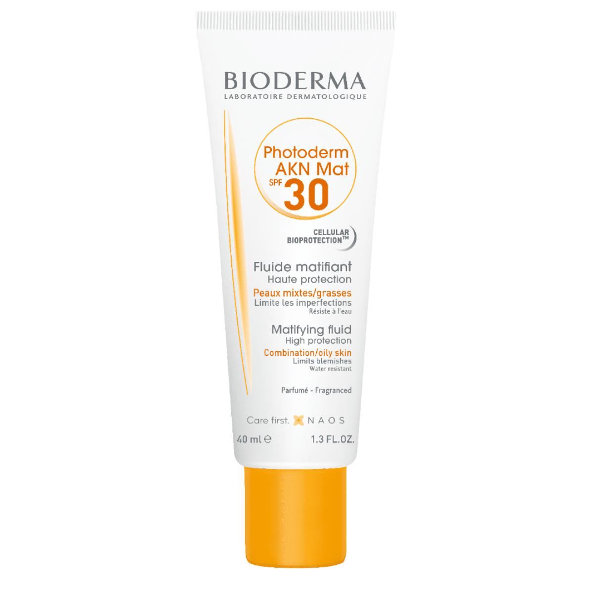 BIODERMA Photoderm AKN Mat SPF 30 saules aizsargfluids 40 ml