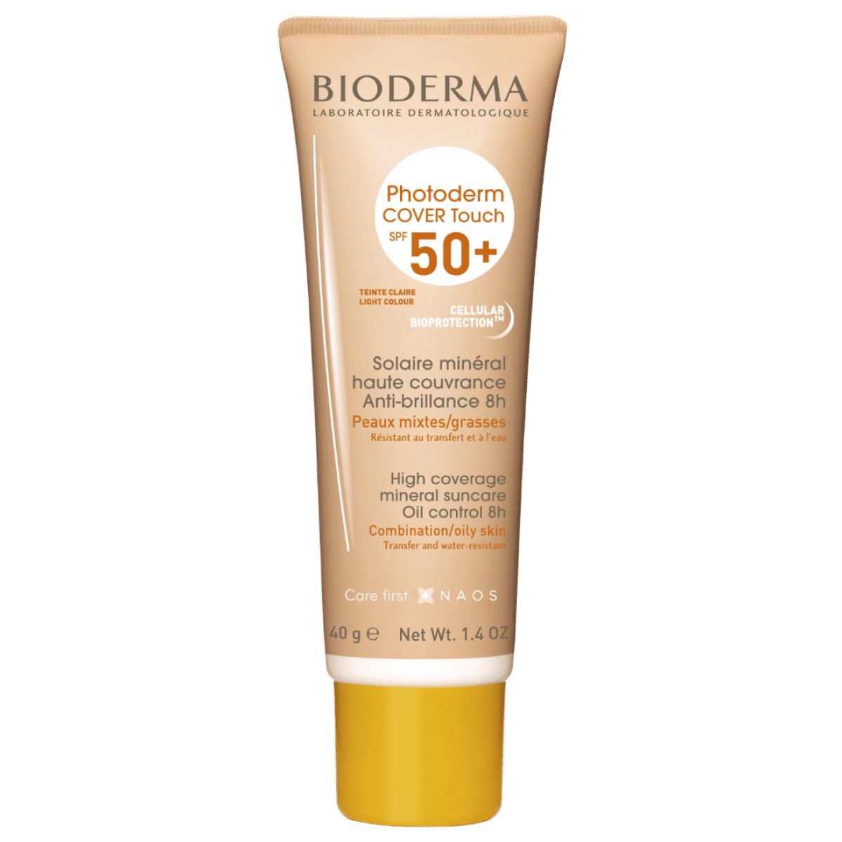 BIODERMA Photoderm Cover Touch SPF 50+ gaiši tonēts saules aizsarglīdzeklis 40g