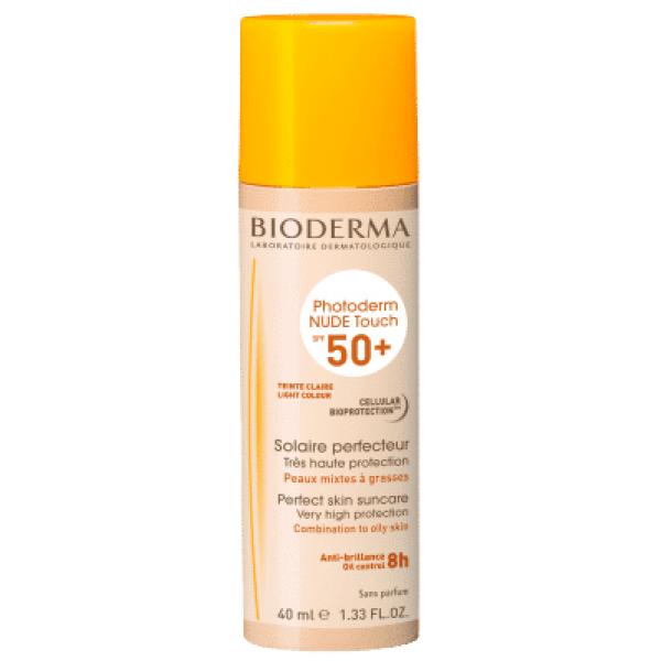 BIODERMA Photoderm NUDE Touch SPF 50+ gaiši tonēts saules aizsarglīdzeklis 40 ml
